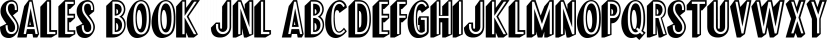 Sales Book JNL font family by Jeff Levine Fonts