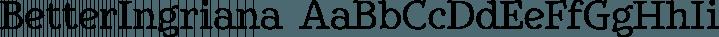 BetterIngriana font family by Ingrimayne Type