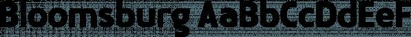 Bloomsburg font family by Sharkshock