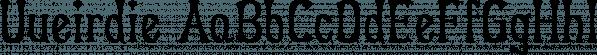 Uueirdie font family by Ingrimayne Type