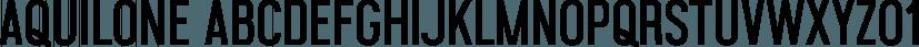 Aquilone font family by mezzo-mezzo