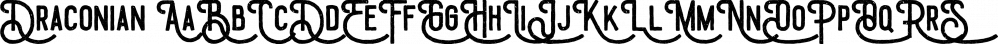 Draconian font family by madeDeduk