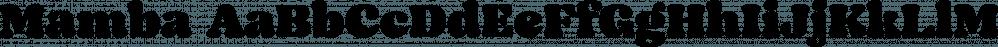 Mamba font family by W Type Foundry