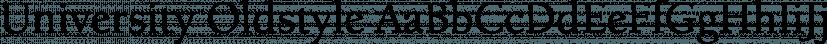 University Oldstyle font family by FontSite Inc.