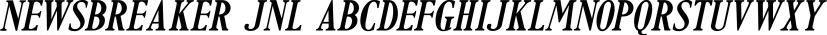 Newsbreaker JNL font family by Jeff Levine Fonts