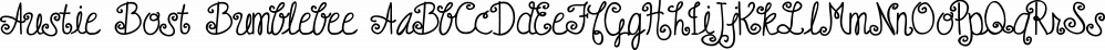 Austie Bost Bumblebee font family by Austie Bost Fonts