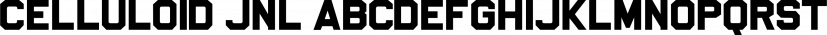 Celluloid JNL font family by Jeff Levine Fonts