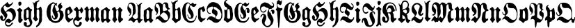 High German font family by Grummedia