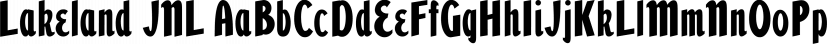 Lakeland JNL font family by Jeff Levine Fonts