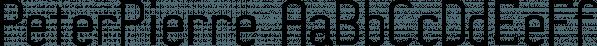 PeterPierre font family by Ingrimayne Type