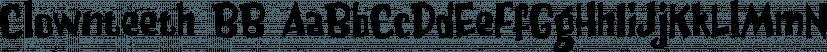 Clownteeth BB font family by Blambot