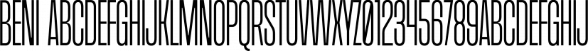 Beni font family by Nois
