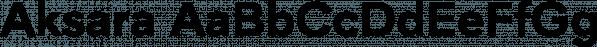 Aksara font family by Lafontype