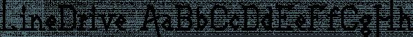 LineDrive font family by Ingrimayne Type