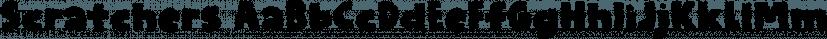 Scratchers font family by Pizzadude.dk