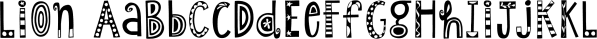 Lion font family by Atlantic Fonts