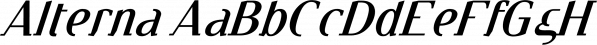 Alterna™ font family by MINDCANDY