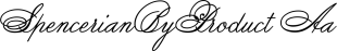 Spencerian font family mini