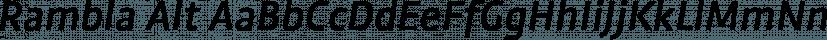 Rambla Alt font family by Underground