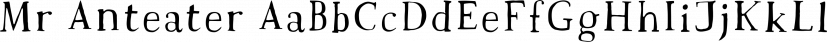 Mr Anteater font family by Hipopotam Studio