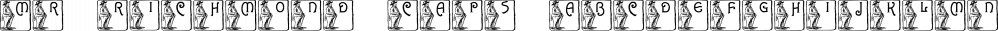 Mr Richmond Caps font family by Intellecta Design
