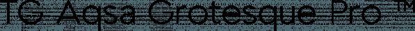 TG Aqsa Grotesque Pro ™ font family by Tegami Type