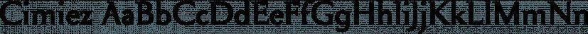 Cimiez font family by Wiescher-Design