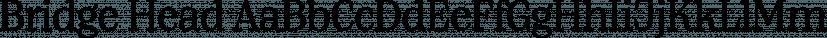 Bridge Head font family by TypeMates