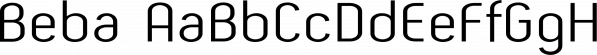 Beba font family by Eurotypo