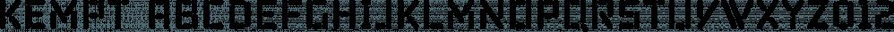 Kempt font family by Bunny Dojo