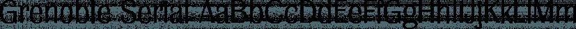 Grenoble Serial font family by SoftMaker