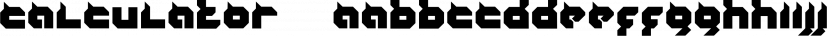 Calculator™ font family by MINDCANDY
