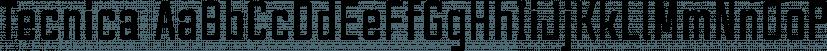 Tecnica font family by Graviton