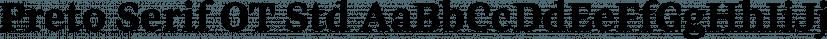 Preto Serif OT Std font family by DizajnDesign
