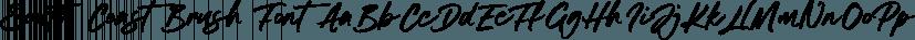 South Coast Brush Font font family by Set Sail Studios