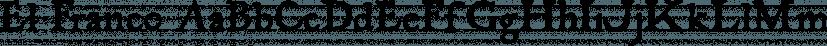 El Franco font family by Fonthead Design