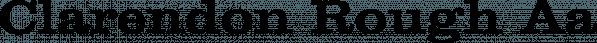 Clarendon Rough font family by Jeff Kahn