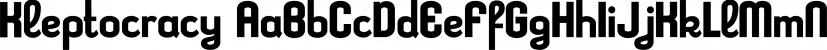 Kleptocracy font family by Typodermic Fonts Inc.