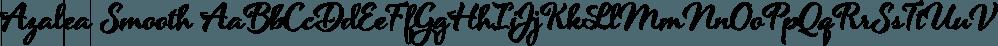 Azalea Smooth font family by Laura Worthington