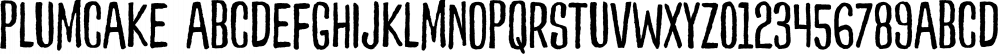 Plumcake font family by PintassilgoPrints