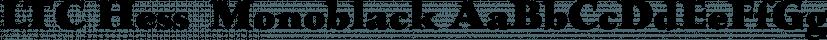 LTC Hess  Monoblack font family by P22 Type Foundry