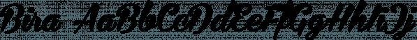Bira font family by Måns Grebäck