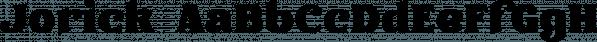 Jorick font family by NREY