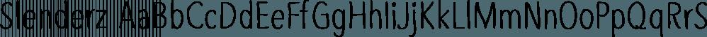 Slenderz font family by CozyFonts Foundry