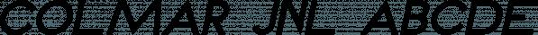 Colmar JNL font family by Jeff Levine Fonts