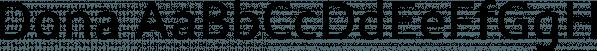 Dona font family by Harbor Type