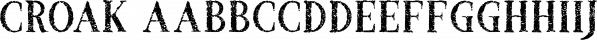 Croak font family by Tugcu Design Co