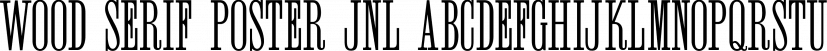 Wood Serif Poster JNL font family by Jeff Levine Fonts