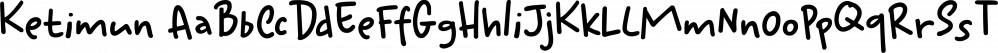 Ketimun font family by Hanoded