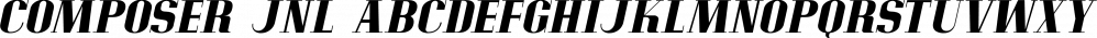 Composer JNL font family by Jeff Levine Fonts